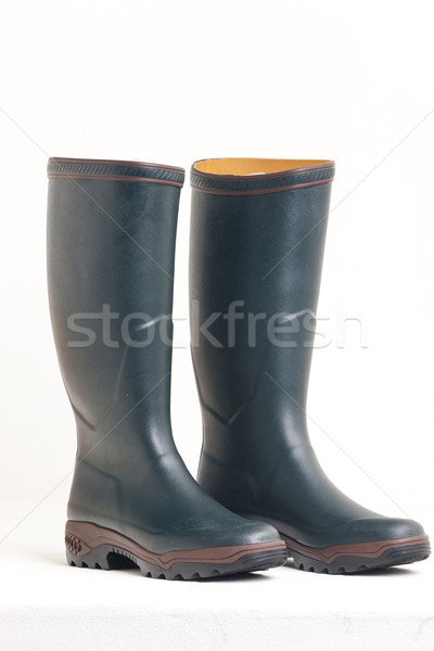 green rubber boots Stock photo © phbcz