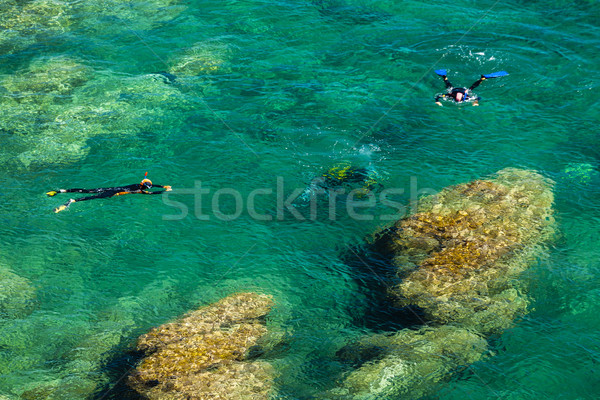 divers, Cap de Peyrefite, Languedoc-Roussillon, France Stock photo © phbcz