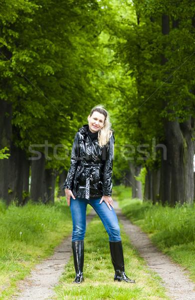 Mulher primavera beco moda Foto stock © phbcz