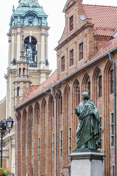 Nicolaus Copernicus monument in front of city hall of Torun, Ryn Stock photo © phbcz