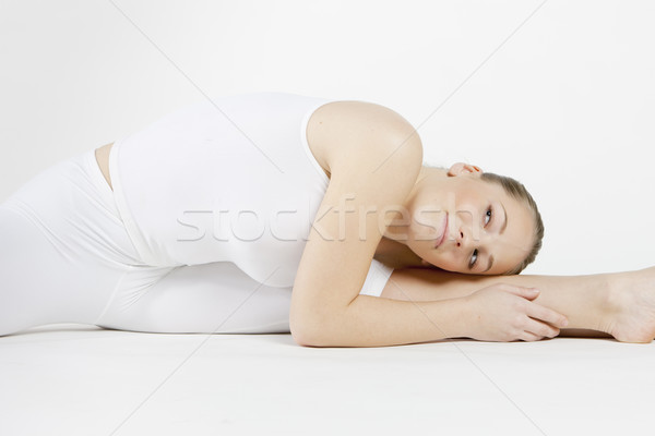 Portret baletnica kobiet sportu fitness Zdjęcia stock © phbcz