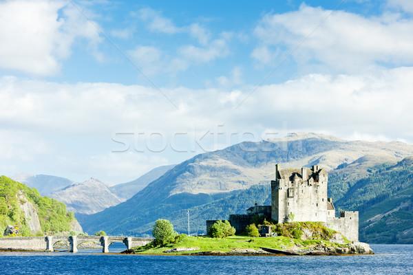 Kasteel Schotland reizen bergen meer architectuur Stockfoto © phbcz