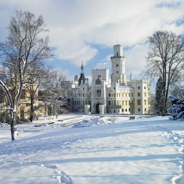 Hluboka nad Vltavou chateau, Czech Republic Stock photo © phbcz