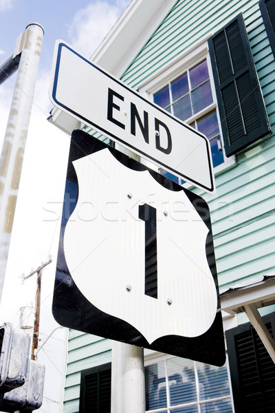 end of the road number 1, Key West, Florida, USA Stock photo © phbcz