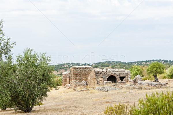 Ruines romaine villa Portugal architecture anciens Photo stock © phbcz