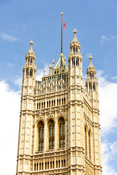 Victoria Tower, Westminster Palace, London, Great Britain Stock photo © phbcz