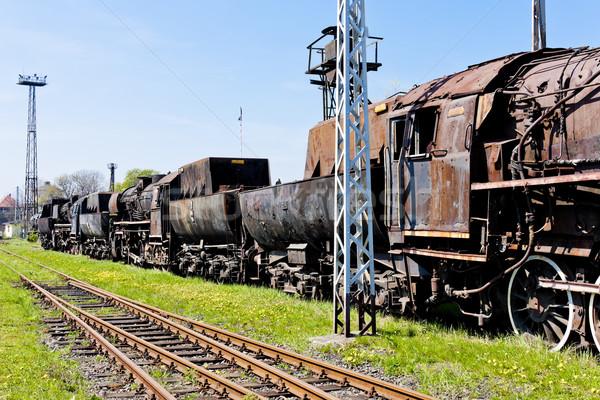 Stoom spoorweg museum reizen buitenshuis Stockfoto © phbcz