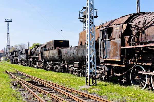 Vapor ferrocarril museo viaje aire libre Foto stock © phbcz