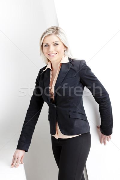 Stockfoto: Portret · permanente · jonge · zakenvrouw · vrouwen · uitvoerende