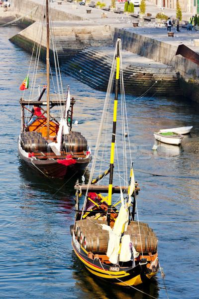 typical boats (rabelos), Porto, Portugal Stock photo © phbcz