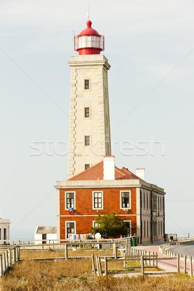 lighthouse at Sao Pedro de Moel, Estremadura, Portugal Stock photo © phbcz