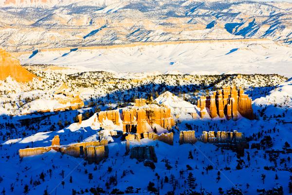 Kanion parku zimą Utah USA charakter Zdjęcia stock © phbcz