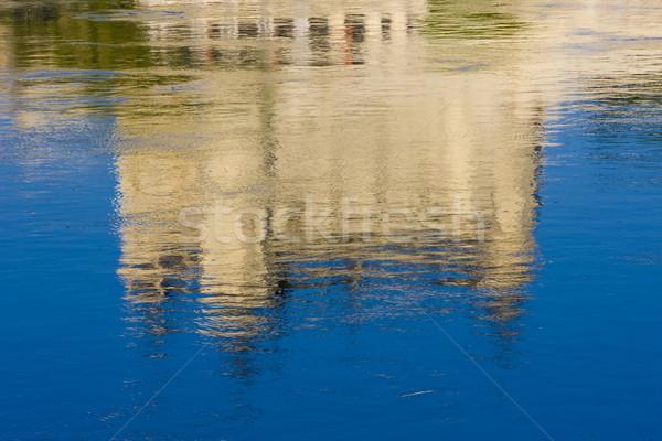 reflection in Loire River, Chateau de Saumur, Pays-de-la-Loire,  Stock photo © phbcz