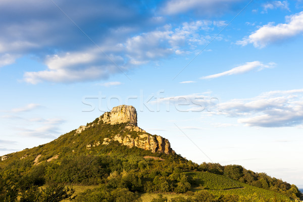 Solutre Rock, Burgundy, France Stock photo © phbcz
