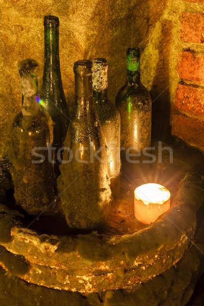 Csendélet borospince Csehország bor ital üveg Stock fotó © phbcz