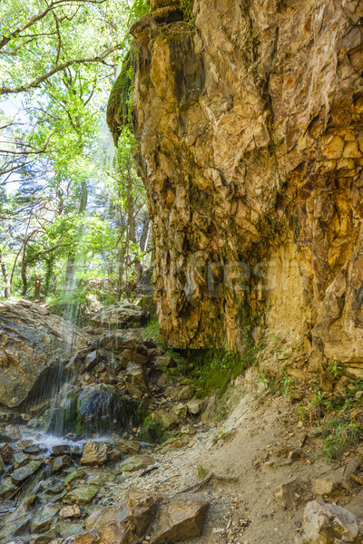waterfall in Colorado Provencal, Provence, France Stock photo © phbcz