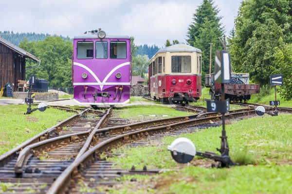 Keskeny kaliber vasút Csehország vonat utazás Stock fotó © phbcz