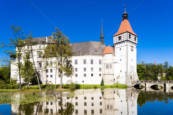 Palota Csehország víz épület utazás építészet Stock fotó © phbcz