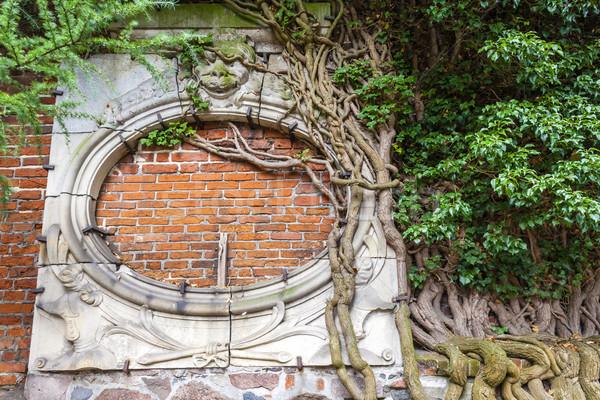 Pormenor parede castelo Polônia arquitetura europa Foto stock © phbcz