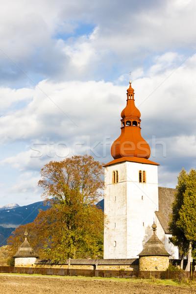 Stock photo: fortified church in Liptovske Matiasovce, Slovakia