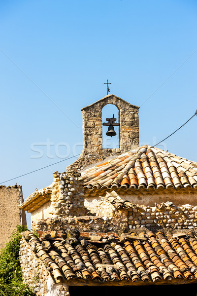 close up of chapel in Ajonc, Provence, France Stock photo © phbcz