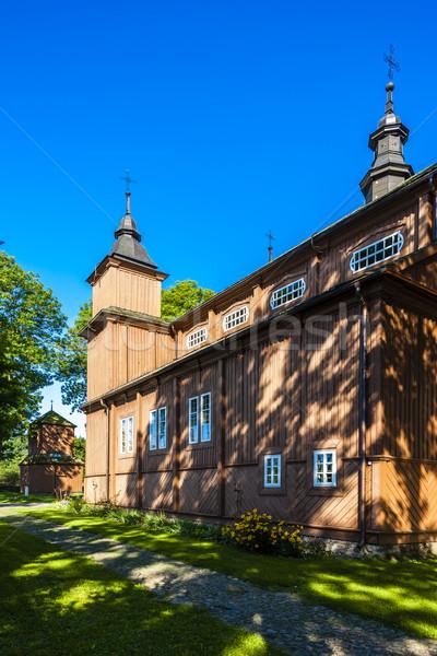 Legno cattolico chiesa Polonia architettura Europa Foto d'archivio © phbcz