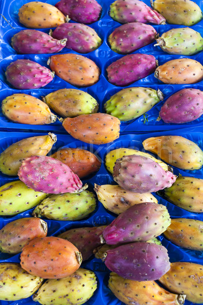 prickly pears cactus fruit, market in Forcalquier, Provence, Fra Stock photo © phbcz