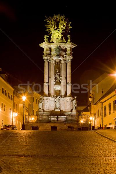 Barok kolom vierkante huis licht Stockfoto © phbcz
