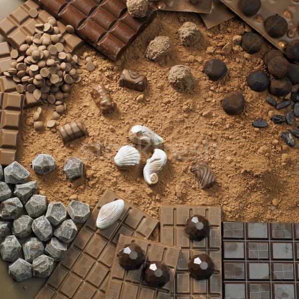 Chocolade stilleven achtergronden eten snoep keuze Stockfoto © phbcz
