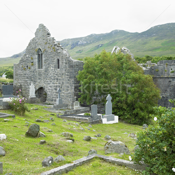 ruins of Murrisk Abbey, County Mayo, Ireland Stock photo © phbcz