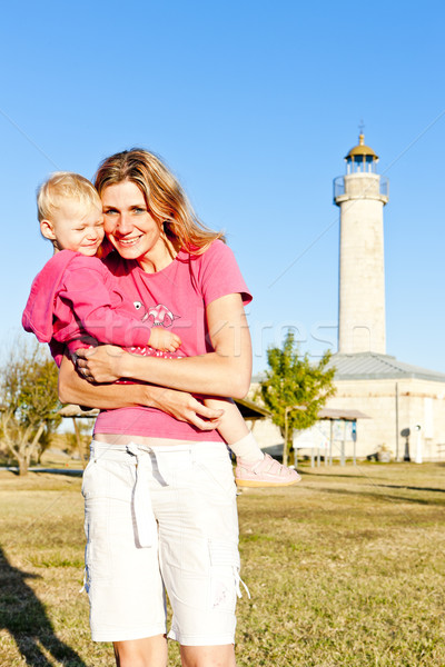 portrait of mother with her little daughter, Richard Lighthouse, Stock photo © phbcz