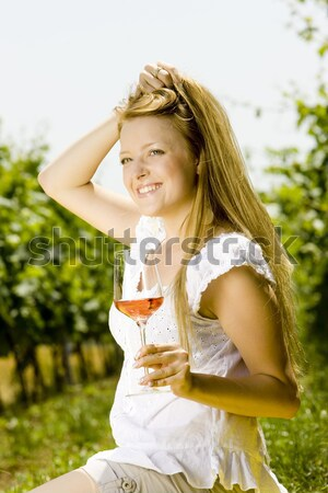 woman at a picnic Stock photo © phbcz