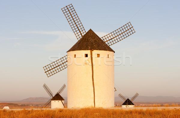 windmills, Campo de Criptana, Castile-La Mancha, Spain Stock photo © phbcz