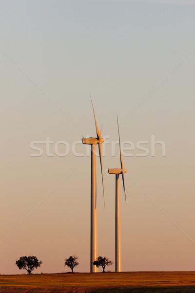 wind turbines, Castile and Leon, Spain Stock photo © phbcz