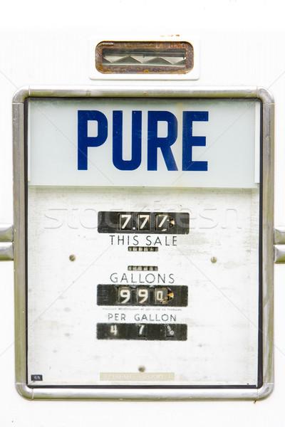 Pormenor velho posto de gasolina New Hampshire EUA Óleo Foto stock © phbcz