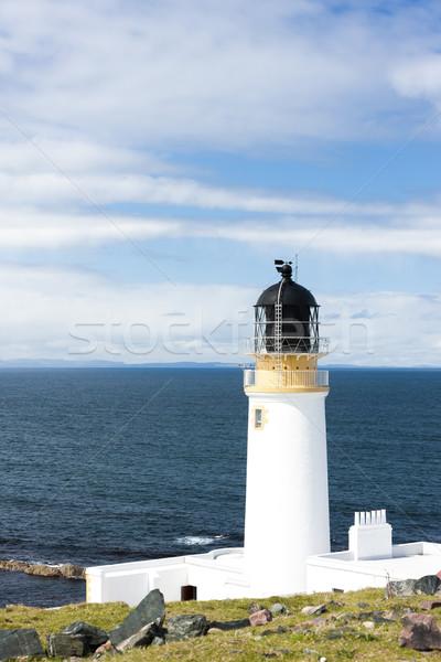 Világítótorony felvidék Skócia épület tenger építészet Stock fotó © phbcz