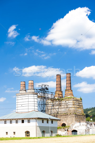 старые извести Чешская республика промышленности промышленных Сток-фото © phbcz