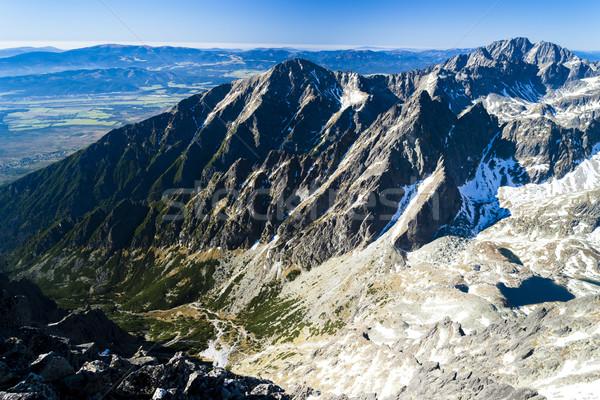 Widoku szczyt wysoki Słowacja krajobraz Europie Zdjęcia stock © phbcz