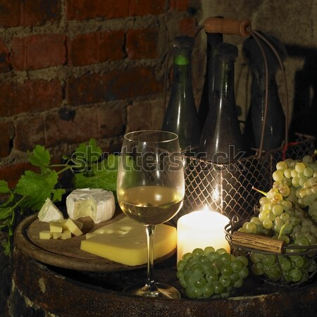 still life in wine cellar, Bily sklep rodiny Adamkovy, Chvalovic Stock photo © phbcz