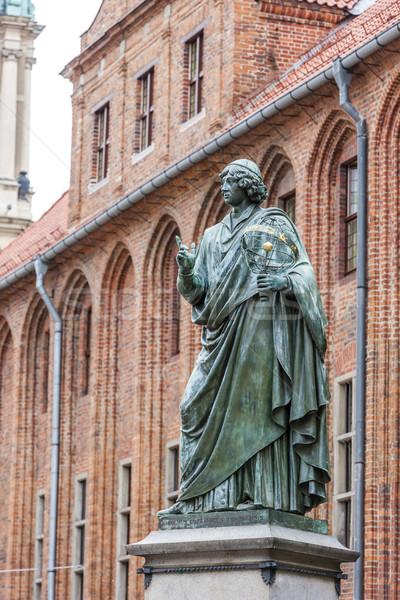 Város előcsarnok épület utazás építészet szobor Stock fotó © phbcz