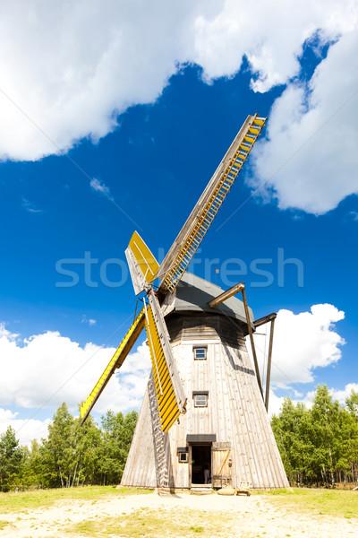 windmill, Kaszubski ethnographic park in Wdzydzki Park Krajobraz Stock photo © phbcz