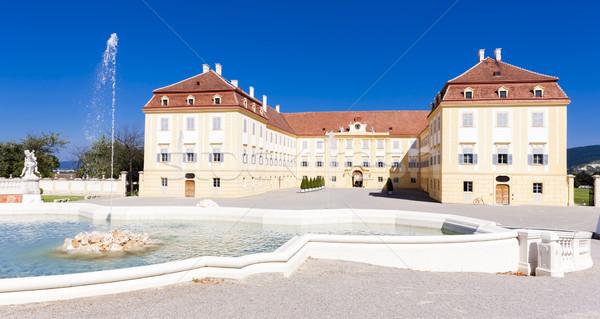 Palota szökőkút alsó Ausztria víz épület Stock fotó © phbcz