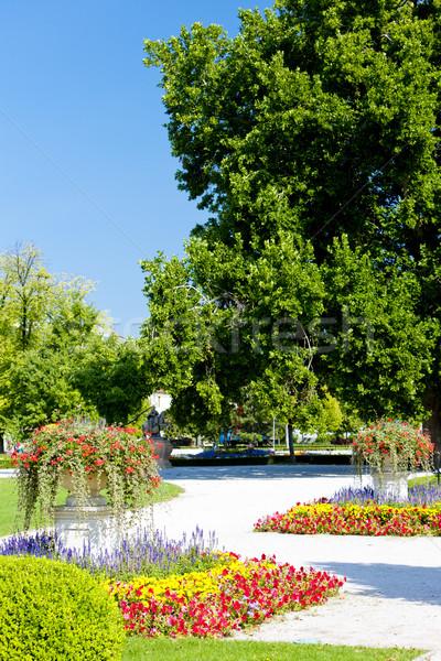Grădină palat Bratislava Slovacia flori Imagine de stoc © phbcz