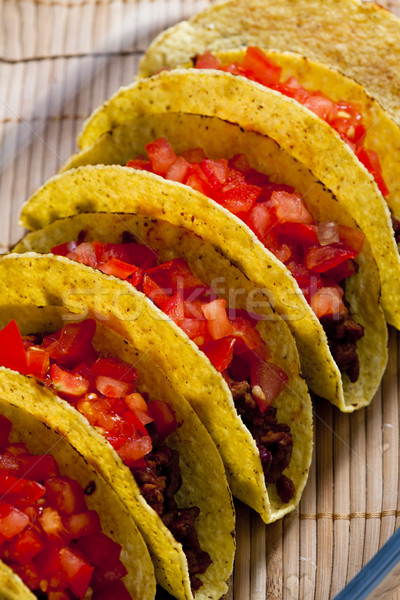 Tacos domates et gıda domates sebze Stok fotoğraf © phbcz