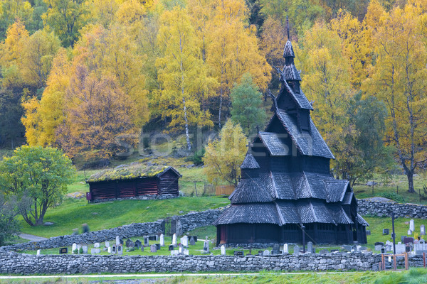 Borgund Stavkirke, Norway Stock photo © phbcz