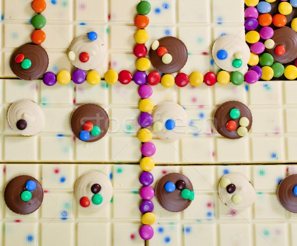 Foto stock: Naturaleza · muerta · blanco · chocolate · alimentos · dulces · dulces