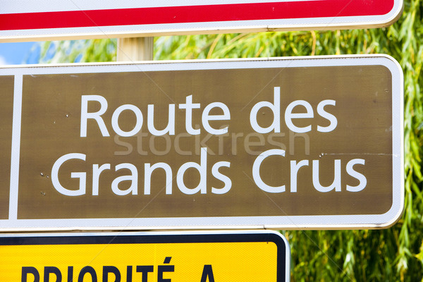 wine route, Burgundy, France Stock photo © phbcz