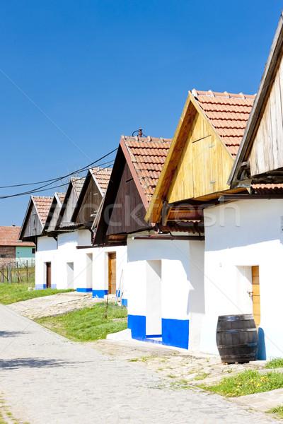 Vino vaina República Checa edificio aire libre Foto stock © phbcz