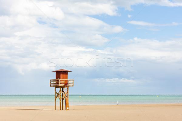 Salva-vidas cabine praia mar viajar europa Foto stock © phbcz
