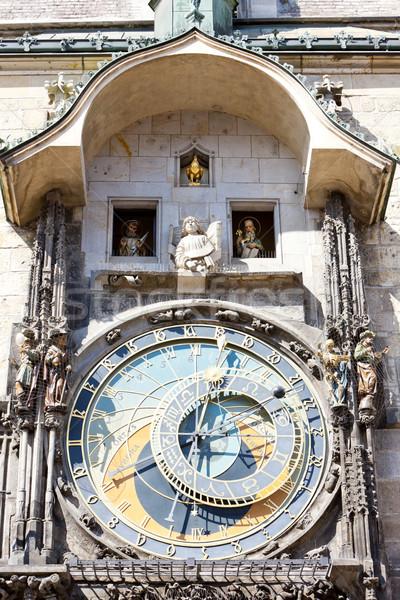 Stok fotoğraf: Kare · Prag · Çek · Cumhuriyeti · saat · seyahat